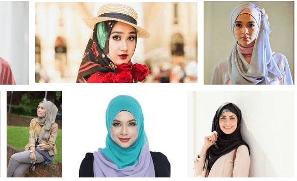 tutorial hijab segiempat ke kantor