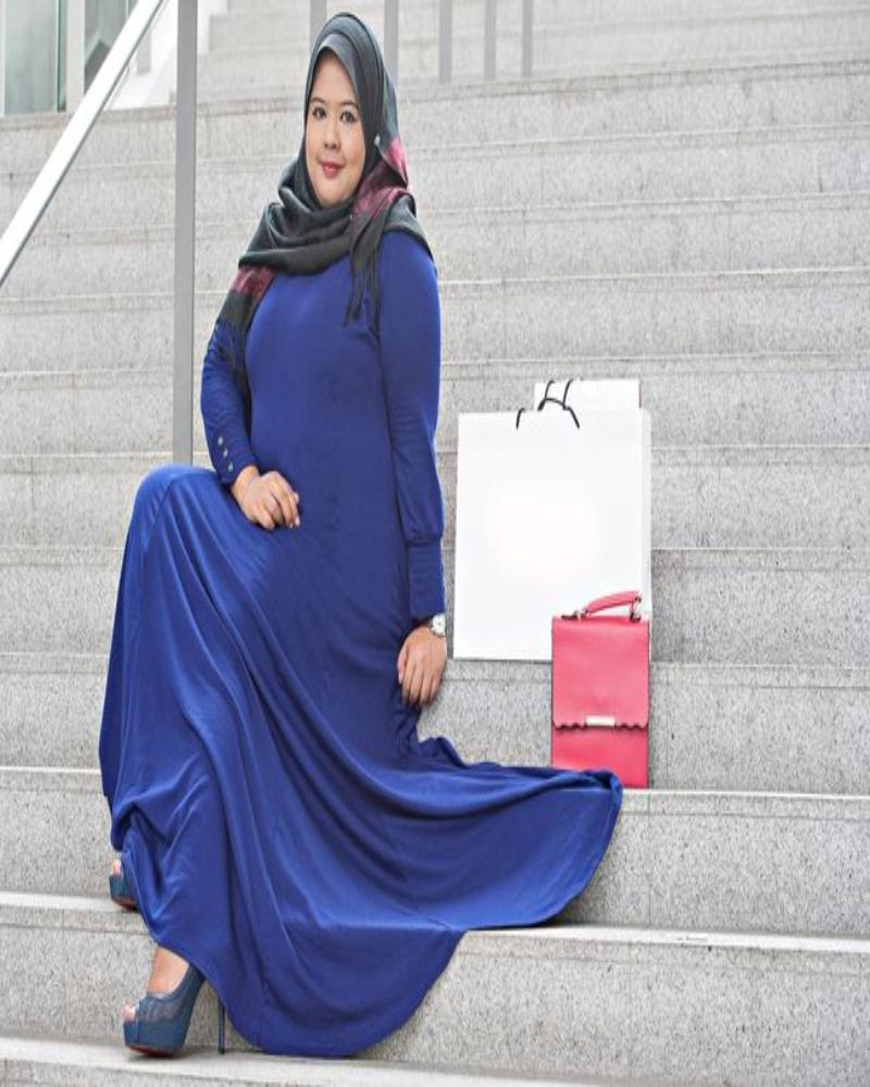 inspirasi hijab bagi badan besar