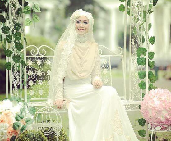hijab untuk gaun pernikahan