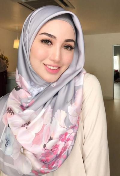 hijab satin