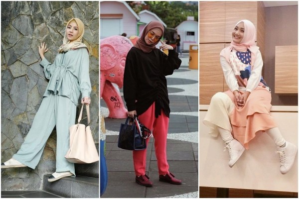 cantik hangoit dengan kreasi hijab